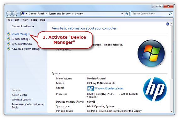 Activate Device Manager