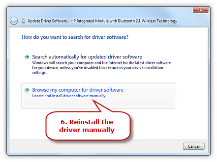 Reinstall the Driver